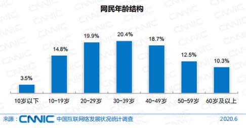 图:2020年6月网民年龄结构